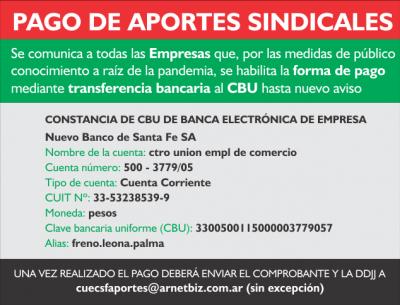 PAGO DE APORTES SINDICALES