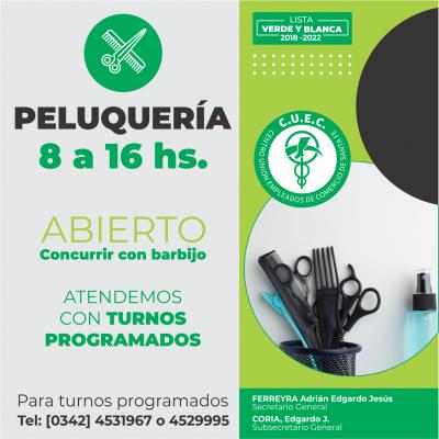 HORARIO PELUQUERIA