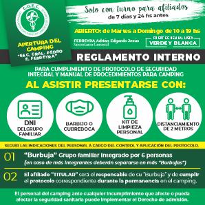 REGLAMENTO INTERNO  COVID-19 TEMPORADA VERANO 2020/21