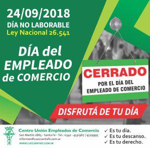 Acuerdo Traslado Dia del Empleado de Comercio 2018