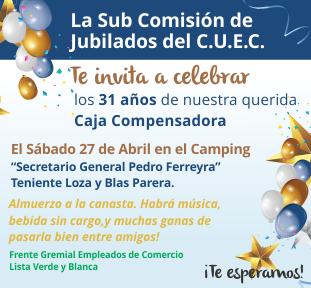 FESTEJAMOS 31 AÑOS CAJA COMPENSADORA