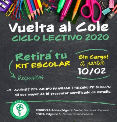 VUELTA AL COLE !!!