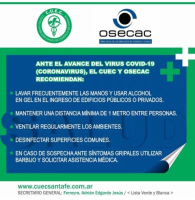 ACCIONES ANTE EL AVANCE DEL COVID-19