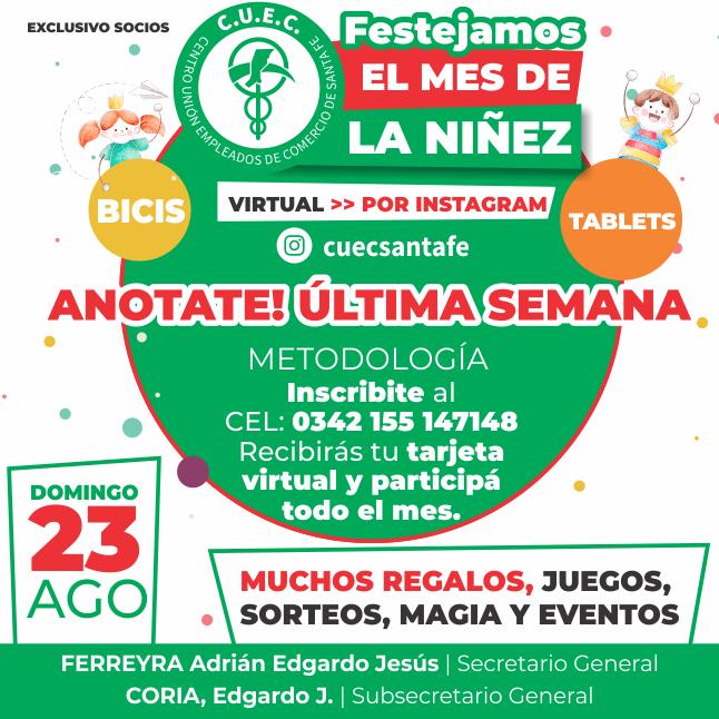 FESTEJAMOS EL MES DEL NIÑO VIRTUAL !!!!
