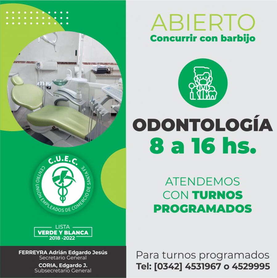 HORARIO ODONTOLOGIA