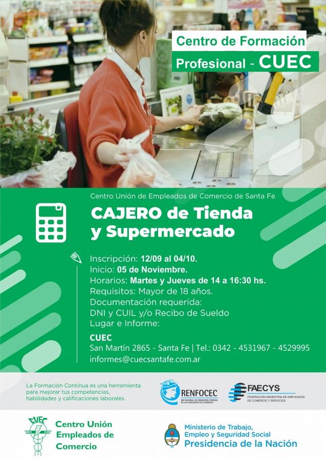 CURSOS CAJERO DE TIENDA Y SUPERMERCADOS
