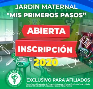 SE ENCUENTRA ABIERTA LA INSCRIPCIÓN JARDIN MIS PRIMEROS PASOS !!!
