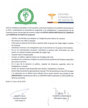 COMUNICADO DE PRENSA PANDEMIA -CORONAVIRUS -